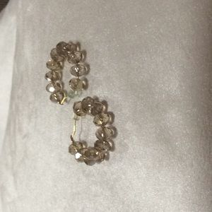 Gold shinny beads round earrings($5 if you buy 3)